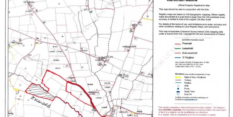 Bridepark Farm Outline Map October 2020